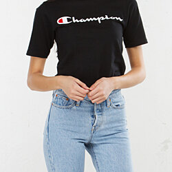 CHAMPION Unisex Reverse Weave Script Spellout Logo Heritage Tee