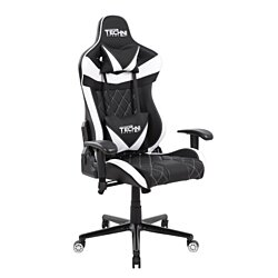TechniSport TSXL1 White Ergonomic, High Back, Racer Style, Video Gaming Chair