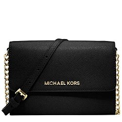 MICHAEL Michael Kors Jet Set Travel Large Phone Crossbody Saffiano Leather 18K