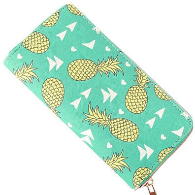 Aqua Pineapple Wallet