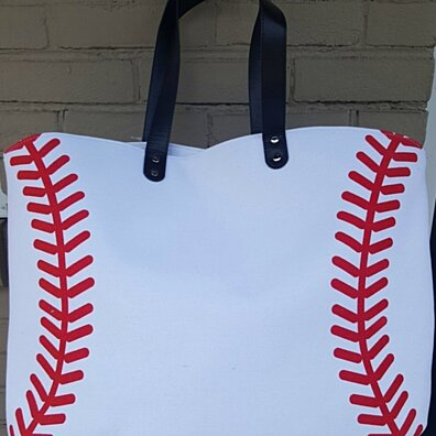 White Baseball Tote Bag - Baseball Super Fan