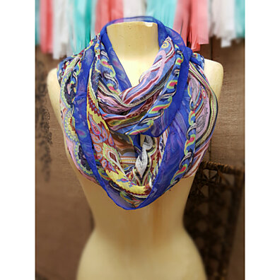 Dream a Little Dream Infinity Scarf - Cobalt