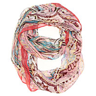 Dream a Little Dream Infinity Scarf - Red