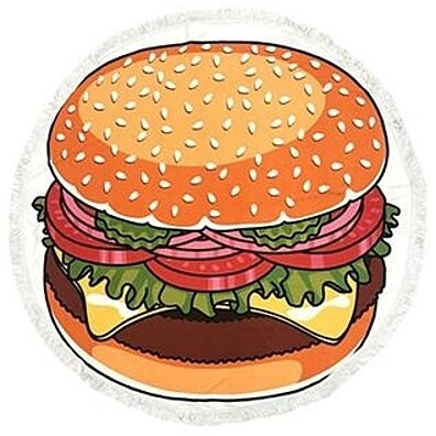 Hamburger Round Towel