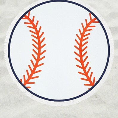Round Baseball Beach Throw