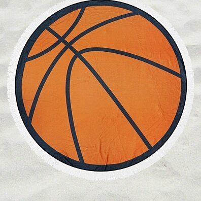 Round Basketball Beach Throw