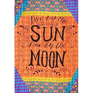Live by the Sun Love by the Moon Rectangle Beach Throw
