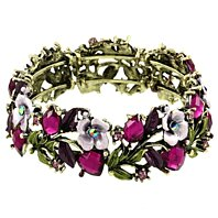 Shades of Purple Vintage Floral Bangle