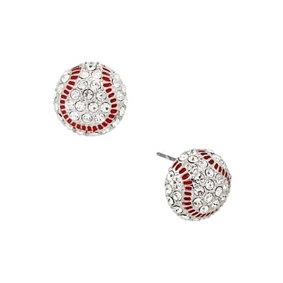 Sparkling Baseball Earrings