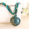 Vintage Necklace Female Short Design Retro Bohemia Style Pendant Opal Phoenix Peacock Necklace