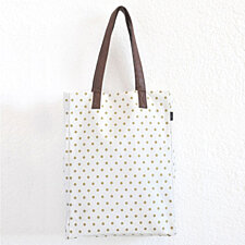 Metallic Gold Dots Market Tote