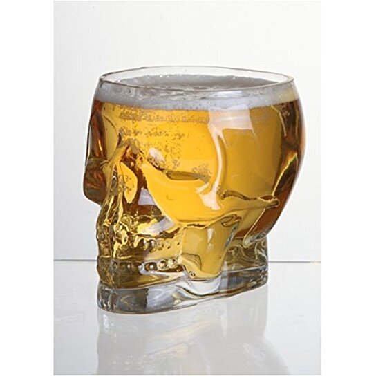 Buy Glass Skull Shaped Decorative Vase Beer Glass