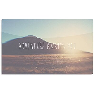 "KESS InHouse Laura Evans ""Adventure Awaits You"" Coastal Typography Artistic Aluminum Magnet, 2"" by 3"", Multicolor"