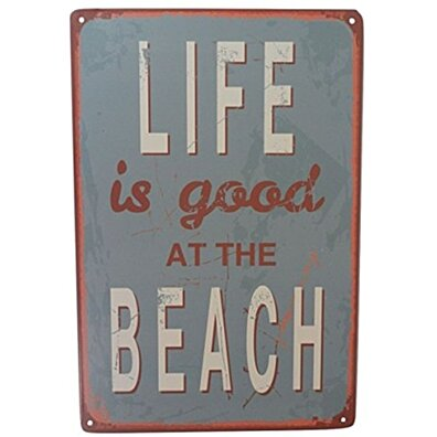 Life At the Beach Funny Tin Sign Bar Pub Garage Diner Cafe Home Wall Decor Home Decor Art Poster Retro Vintage