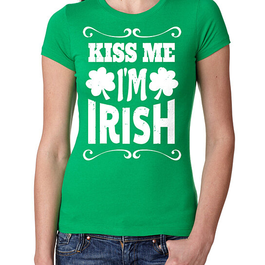 9cf056aa Trending product! This item has been added to cart 51 times in the last 24  hours. St Patrick's Day Woman Top Kiss Me I Am Irish Tee Shirt St Patrick's  ...