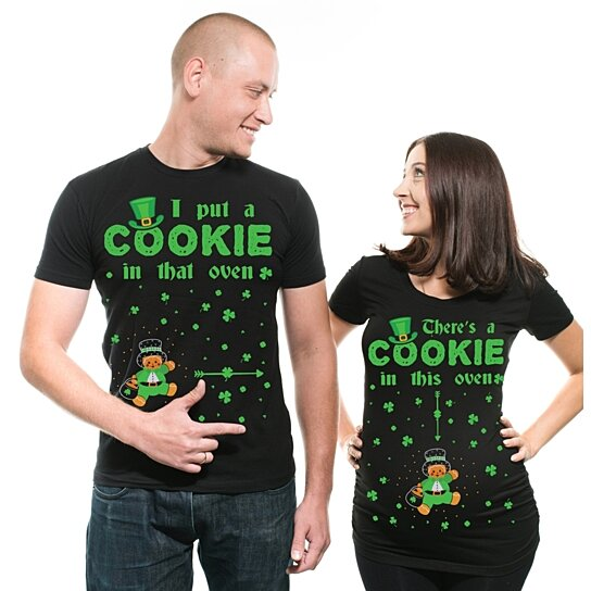 6da7a5e7b to cart 9 times in the last 24 hours. St Patrick's Day T-Shirts Funny  Couple Matching Shamrock BOY Dad Maternity Tee Shirts