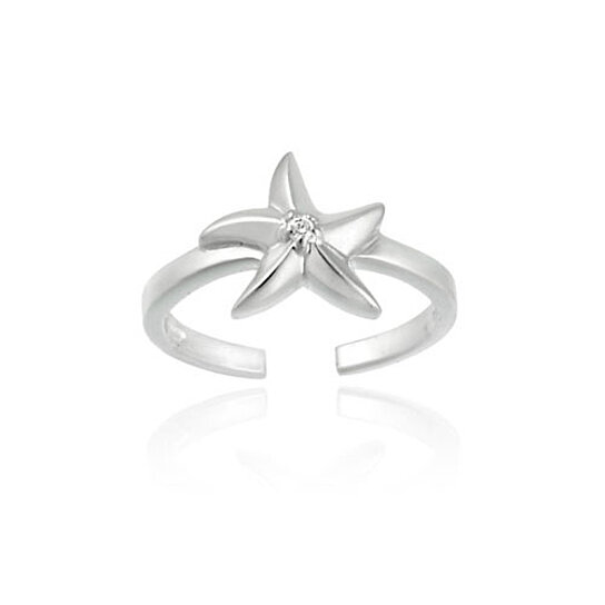 buy sterling silver starfish toe ring by silverspeck on