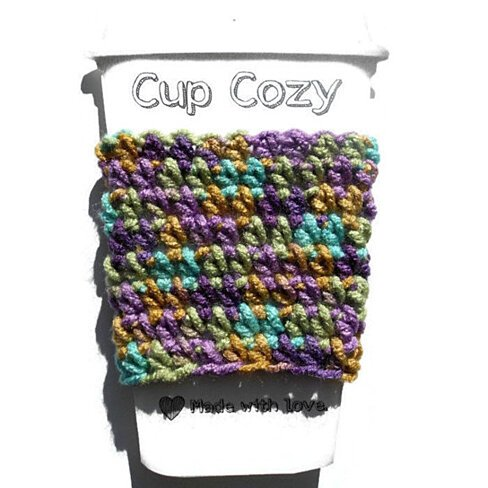 Crochet Coffee Cup Cozy, Travel Mug Sleeve, Cup Coozie, Can Koozie ...