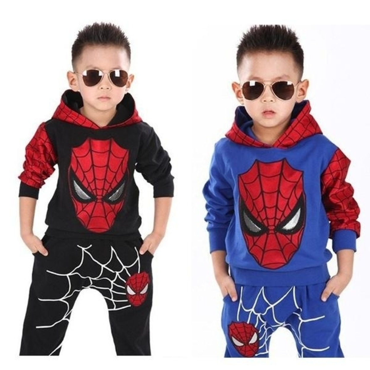 Classic Child Costume Sports Suit 2 Pieces Set Tracksuits Boys Clothing Sets Coat+Pant - Black, 100 - 3T 598e9e22ef85265c0c7d2c0e