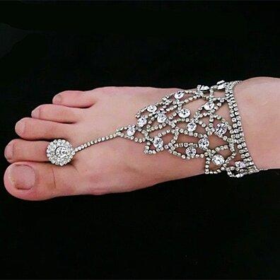 4a33ec8c62db2f foot bracelet Bridal accessories jewelry foot Women sexy rhinestone  barefoot sandals