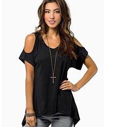 Women Cold Shoulder Tunic (2 Color) Best Gift