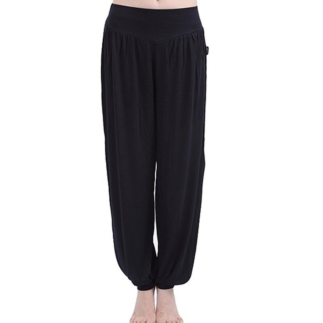 Women Loose Yoga Pants - Black, S 5995c1fc78a3c955f90e4bf6
