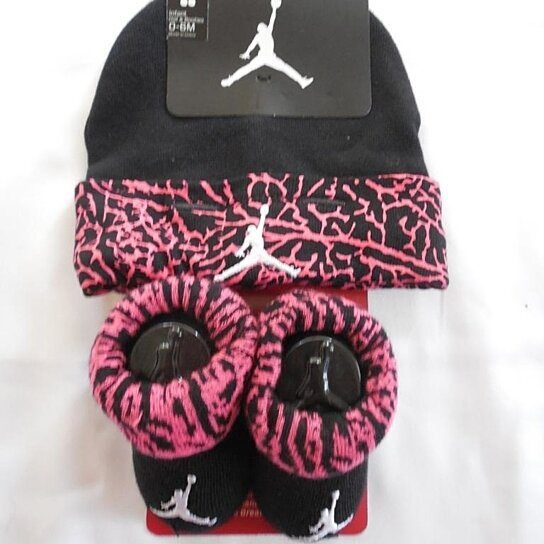 89a3d1797d55 Buy New Style NIKE JORDAN 2 PC Baby Toddler Set Hat Booties SZ 0-6 MO by  Slytlynutz on OpenSky