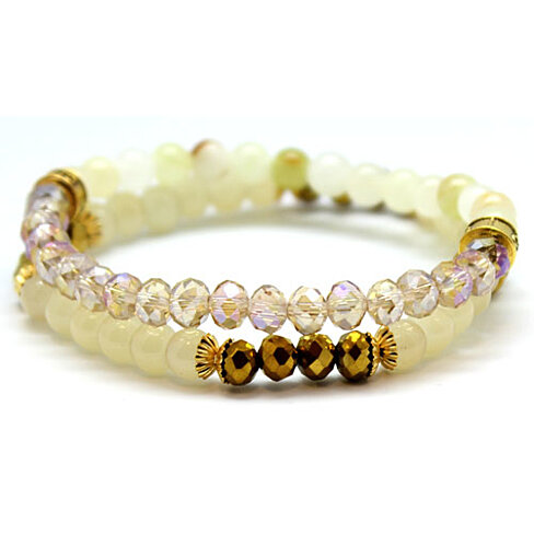 buy chavez for charity glass and beaded bracelet set