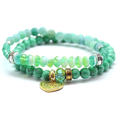 buy chavez for charity green agate and glass beaded