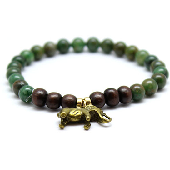 buy chavez for charity green serpentine and wood beaded