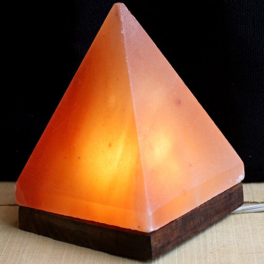 Buy So Well Himalayan Salt Crystal Pyramid Light by So Well on OpenSky