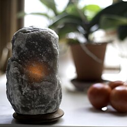 Fair Trade Rare Grey Himalayan Salt Lamp - 5-7 Lbs.
