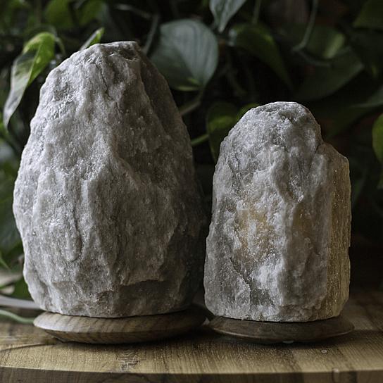 Buy so well fair trade smokey grey himalayan salt crystal for Certified himalayan salt lamp