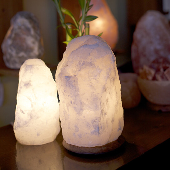 Himalayan Salt Lamps White : Buy So Well Fair Trade White Himalayan Salt Crystal Light (9-13lb) by So Well on OpenSky