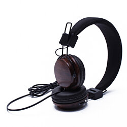 Headphones with a Wooden Touch