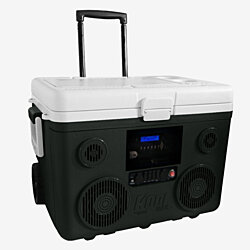 KoolMAX (Gray) Bluetooth 40-Quart Cooler, Portable PA and Charging Station