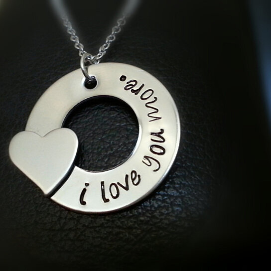 buy i love you more necklace gift for her heart charm