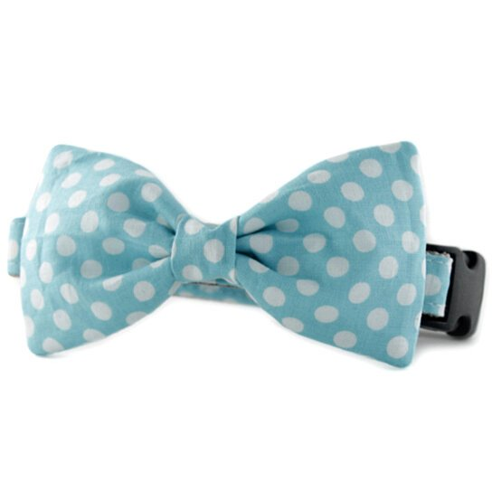 Blue Bowtie Collar For Dogs