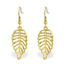 Leaf Earrings High Quality Gold Plated