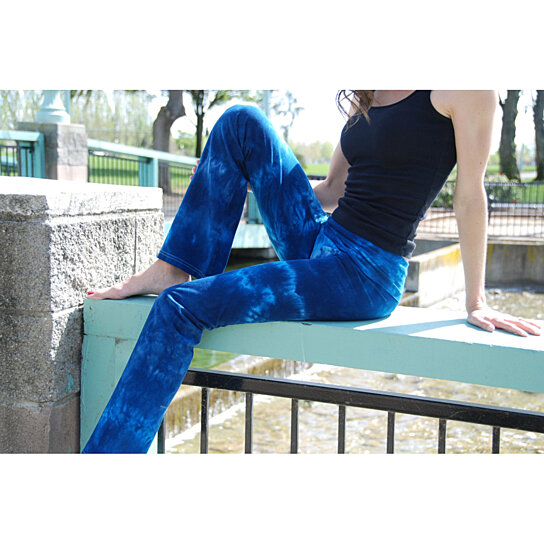 Buy Tall Cosmic Blue Tie Dye Yoga Pants Including Extra