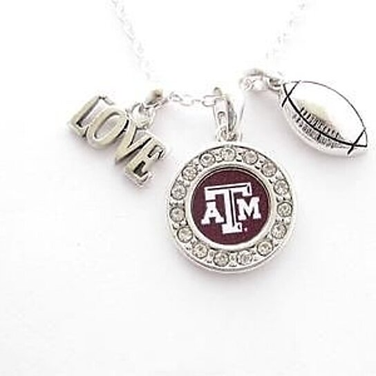 Buy texas a m aggies multi charm love football maroon for Jewelry stores in texas