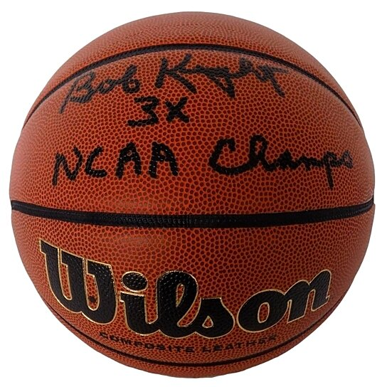 Buy Bobby Knight Signed Wilson Ncaa Basketball 3x Champs Inscription Jsa By Sports Integrity On
