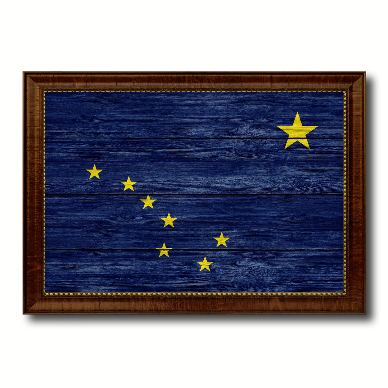 Alaska Texture Flag Canvas Print With Picture Frame Gift Ideas Home Decor Wall Art Decoration
