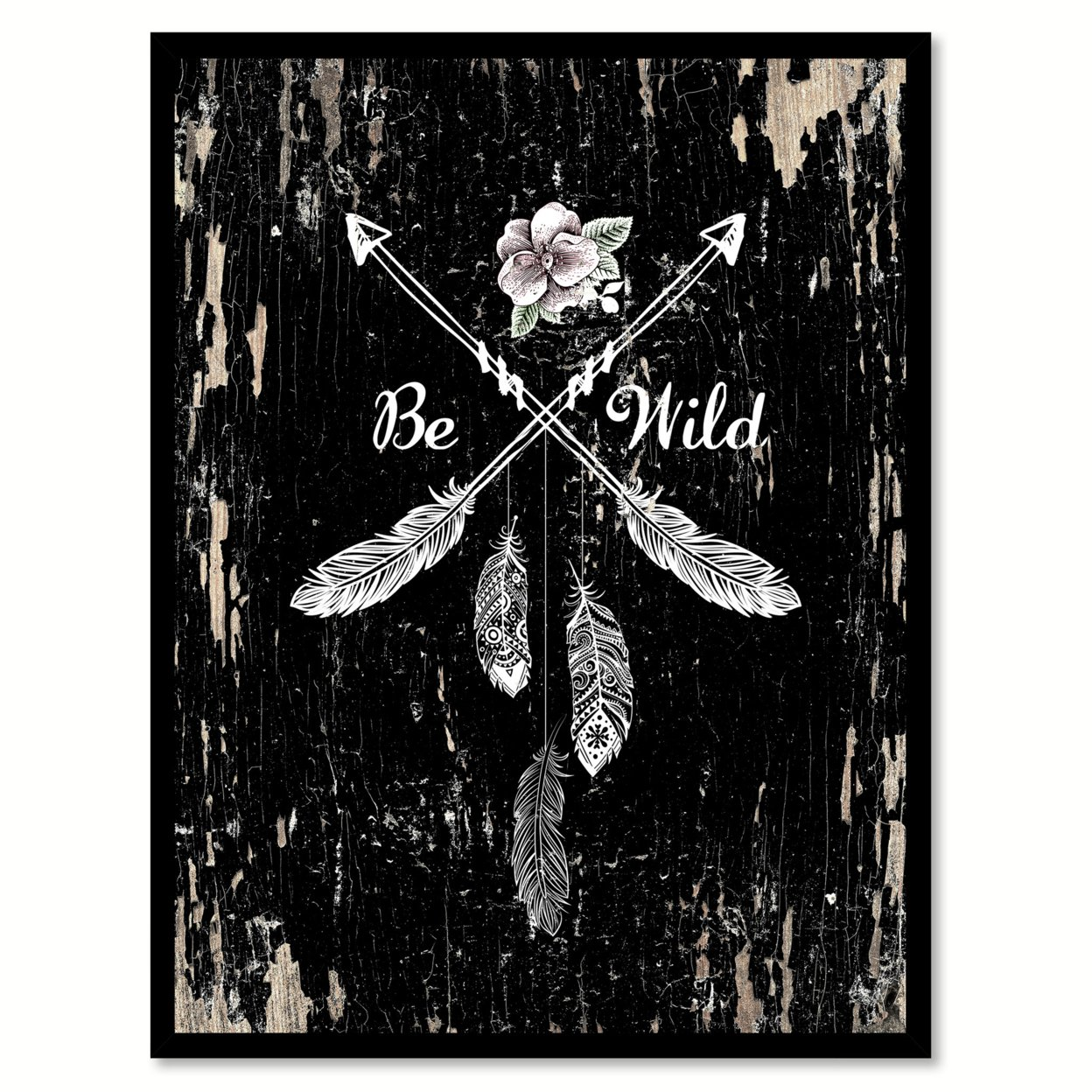 Be Wild Saying Canvas Print With Picture Frame Home Decor Wall Art Gifts