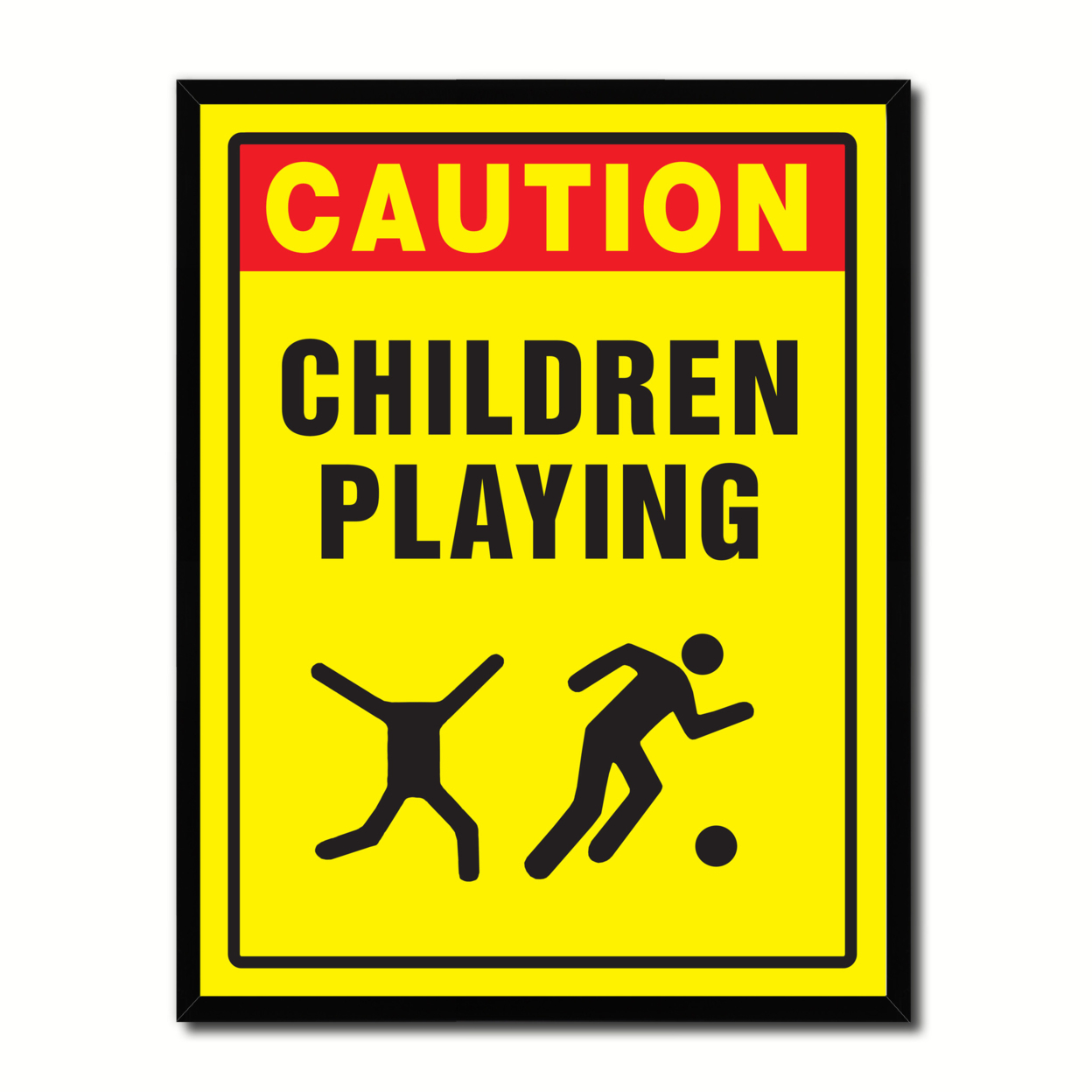 "Caution Children Playing Caution Sign Gift Ideas Wall Art Home D?cor Gift Ideas Canvas Pint - 7""x9\"" 57f6c845e2246165175807f6"