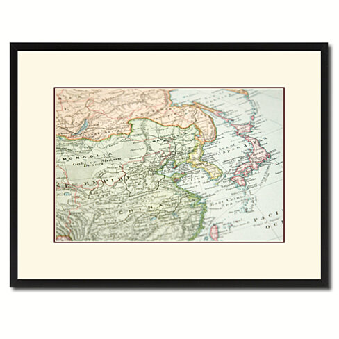 Europe  Asia Vintage Antique Map Wall Art Home Decor Gift Ideas Canvas Print Custom Picture Frame
