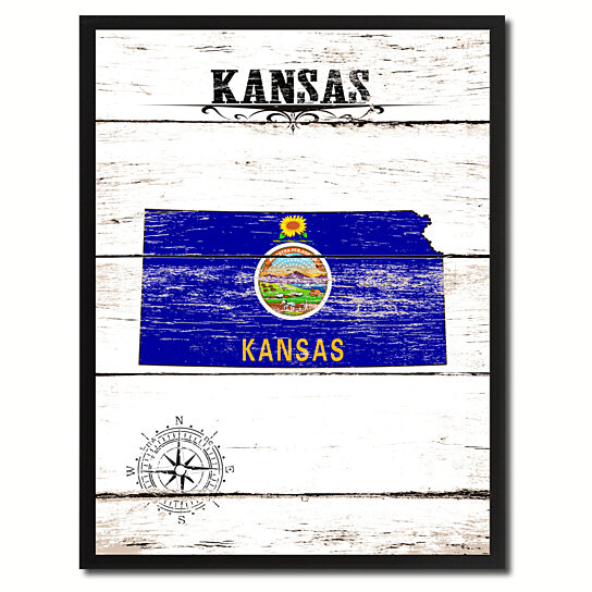Buy Kansas State Flag Canvas Print With Picture Frame Home