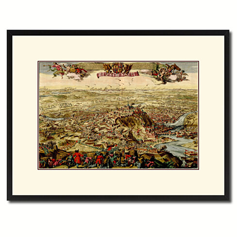 Mountain Fortress Vintage Antique Map Wall Art Home Decor Gift Ideas Canvas Print Custom Picture Frame