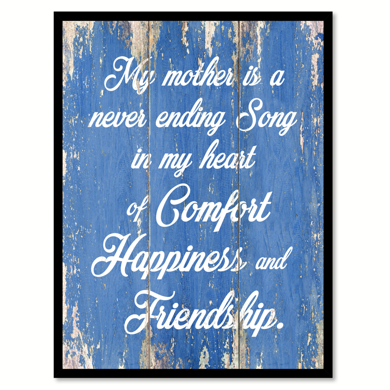 My Mother Is A Never Ending Song Saying Canvas Print With Picture Frame Home Decor Wall Art Gifts