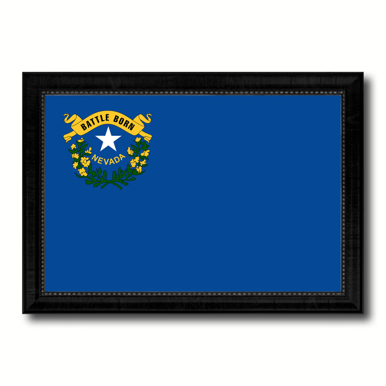 Nevada State Flag Canvas Print With Picture Frame Gift Ideas Home Decor Wall Art Decoration